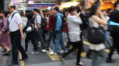 Hong Kong crosswalk - stock footage