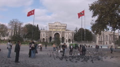 Istanbul square University Stock Footage