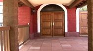 Oak Church Door Stock Footage
