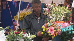 Istanbul flowers 2 Stock Footage