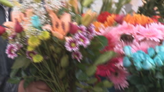 Istanbul flowers 1 Stock Footage