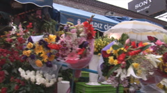 Istanbul flowers 3 Stock Footage