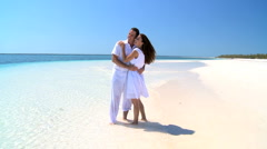 Young Couples Hideaway Island Vacation - stock footage