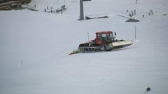 Pisten Bully Ischgl Ski Area Stock Footage
