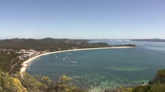 Port Stephens Wide Angle - stock footage