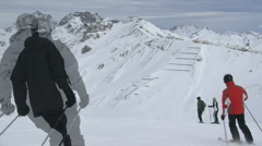 Ischgl Ski Area Stock Footage