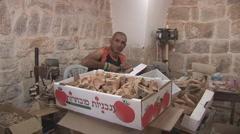Bethlehem - souvenirs manufactory 1 - stock footage