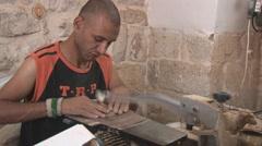 Bethlehem - souvenirs manufactory 2 - stock footage