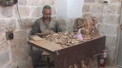 Bethlehem - souvenirs manufactory 3 - stock footage