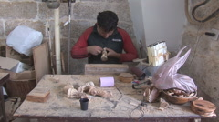 Bethlehem - souvenirs manufactory 6 - stock footage