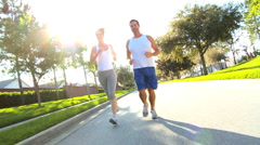 Healthy Couple on Keep Fit Programme Stock Footage