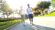 Stock Video Footage of Healthy Couple on Keep Fit Programme