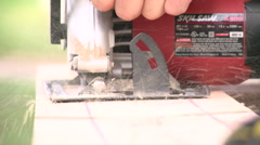 Men using an Electric Saw. Stock Footage