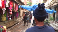Nepal: Riding through the streets of Katmandu Stock Footage