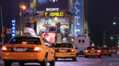 Times Square night traffic  new york ny 1080i tighter #2 Stock Footage