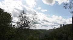 Clouds over hills - stock footage