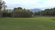 Lucca walls of city Stock Footage