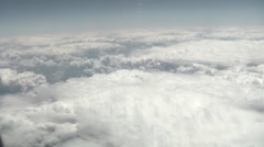 Clouds from plane 04 - stock footage