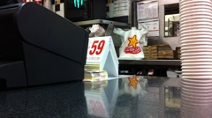 Fast Food Cashier - stock footage