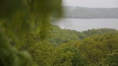 5 rack rain on leaves - stock footage