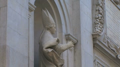 Lucca statue of bishop Stock Footage