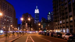 New York Skyline Empire State Building Time-lapse Sunset - 480x270 Stock Footage