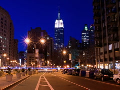 New York Skyline Empire State Building Time-lapse Sunset - 640x480 Stock Footage