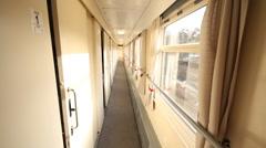 Train inside motion Stock Footage