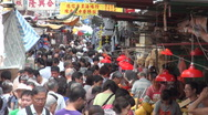 Stock Video Footage of Market, people, busy, crowded, Hong Kong, China, food, colorful