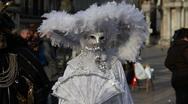 Venice Carnival portrait Stock Footage