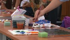 Group Work - Art Therapy - stock footage