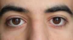 Stock Video Footage of Close Up of Young Man Eyes