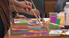 Paint Brushes - Art Therapy Stock Footage