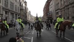 Police and Big Ben Medium Stock Footage