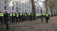 Police in Horseguards Parade Stock Footage