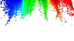 Waterfall rainbow HD 1080, Loopable. Alpha. - stock footage