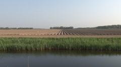 Farmland ready for implantation of potato Stock Footage