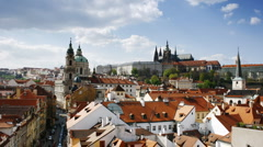 Prague Castle and Saint Vitus Cathedral, Prague, Czech Republic Stock Footage