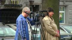 Film crew Stock Footage