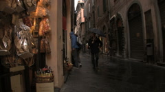 Lucca late evening 1 Stock Footage