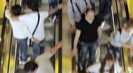 Stock Video Footage of People on escalator