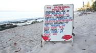 Beach Massage options. Stock Footage
