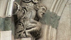 Lucca cathedral gargoyle Stock Footage