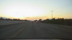 Leaving Southern California via freeways at dawn - 9 Stock Footage