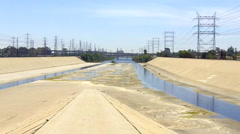 Los Angeles San Gabriel Urban River Vista 3 - stock footage