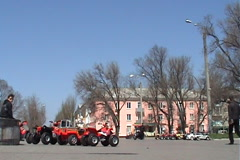 The area in the city of Berdyansk, Ukraine Stock Footage