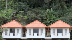 Three Identical Houses in Kata Beach in Phuket Island, Thailand, Palm Tree Stock Footage