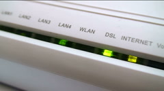 Stock Video Footage of Router - Internet - Telecommunication close up