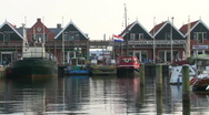 Stock Video Footage of Harbor of Urk, The Neterlands