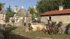 Italy Apulia scene with trullo - stock footage